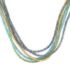 Varied Multi-Strand Gemstone Necklace