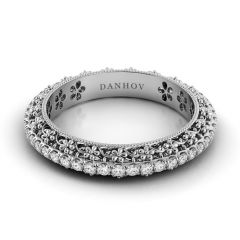 Danhov Women's Floral Wedding Band FE107B