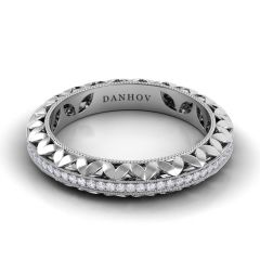 Danhov Floral Diamond Wedding Band for Women  FE108B