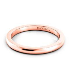 Danhov Per Lei Flat Rose Gold Wedding Band LB100-P