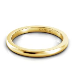 Danhov Per Lei Flat Yellow Gold Wedding Band LB100-Y