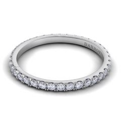 Danhov Per Lei Handmade Flat Diamond Wedding Band for Women LB100-A