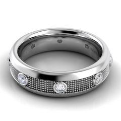 Danhov Domed Diamond Wedding Band for Him PM102-6< Pelote Collection
