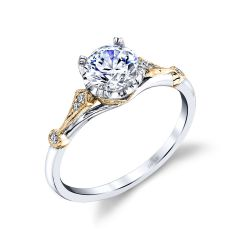 Parade Hera Bridal White & Yellow Gold Diamond Engagement Ring R4502/R1-WY