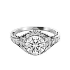 Vintage-Inspired Diamond Engagement Ring with Milgrain
