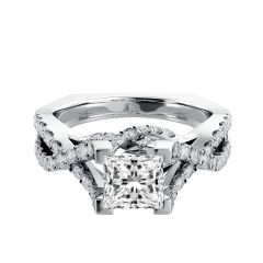 Twisted Shank Princess Cut Diamond Engagement Ring