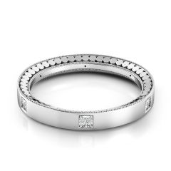 Tubetto Men's Platinum Wedding Band TB117