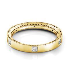 Danhov Tubetto Yellow Gold Diamond Wedding Band TB117Y