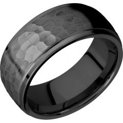 Lashbrook Zirconium 9mm Domed Band With Grooved Edges