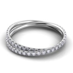 Danhov Eleganza Braided Diamond Wedding Band ZB101-H