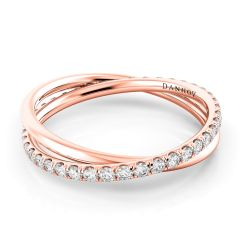 Handcrafted Women's Rose Gold Wedding Bands